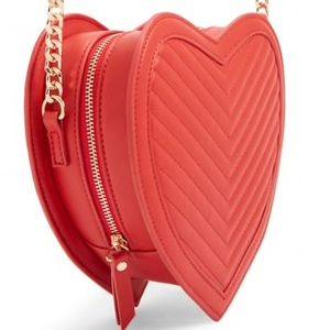 Red Heart Crossbody bag